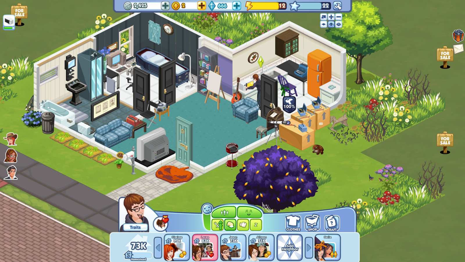 now playing the sims social slickgaming. Black Bedroom Furniture Sets. Home Design Ideas