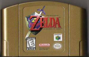 Ocarina of Time Gold Cartridge