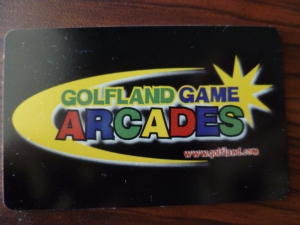 Golfland USA Arcade Card