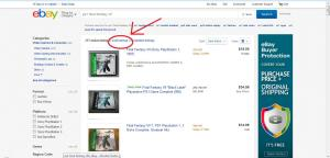 """Click on the """"Sold Listings"""" filter highlighted here."""
