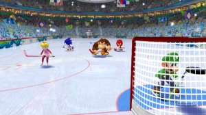 Mario and Sonic at the Olympic Winter Games Hockey