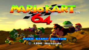 Mario Kart 64 Title