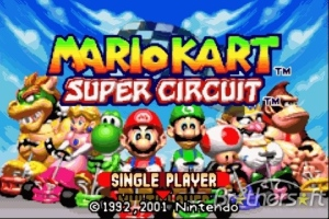 Mario Kart Super Circuit Title