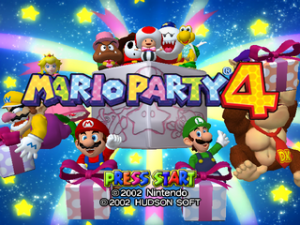 Mario Party 4 Title