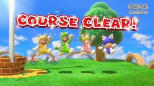 Super mario 3D World Course Clear