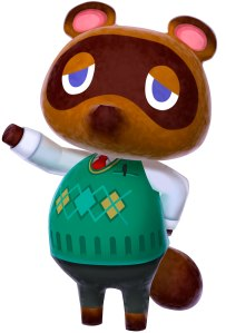 Tom Nook is absolutely rocking that argyle sweater