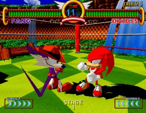 Sonic the Fighters Gameplay 1