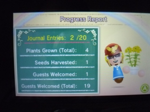 Your Flower Report keeps track of all your progress in the game.