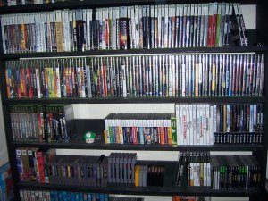 Sadly this isn't my collection. But it is a great representation of how to neatly display games.