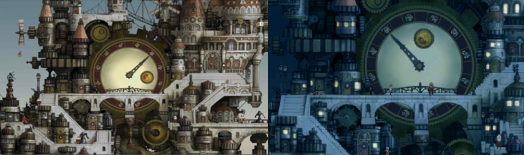 Bravely Default Ancheim Day and Night