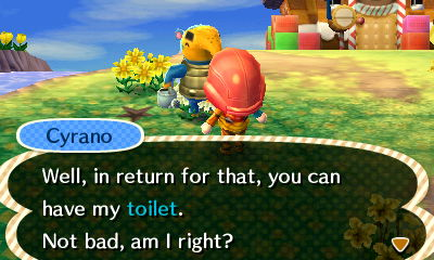 Animal Crossing New Leaf Cyrano Toilet