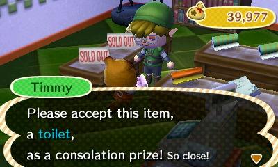 Animal Crossing New Leaf Timmy Toilet