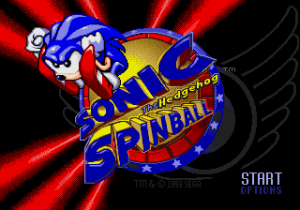 Sonic Spinball Title