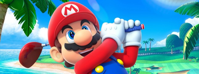 Mario Golf World Tour Mario Banner