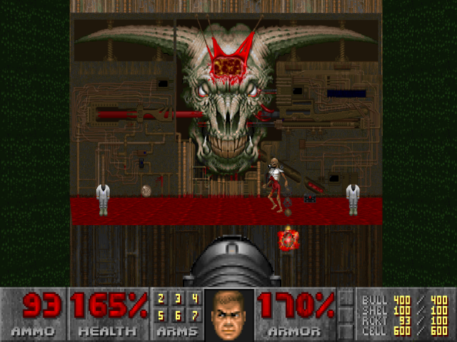 Doom 2 End boss
