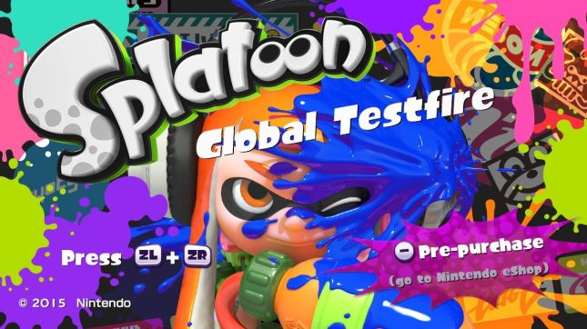 Splatoon Global Testfire Logo