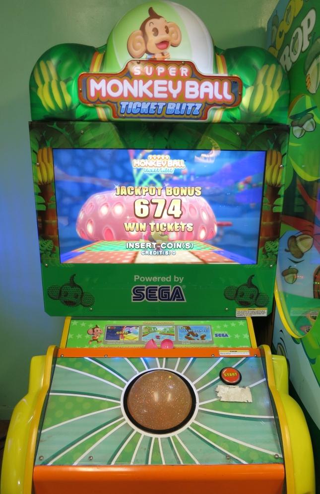 Super Monkey Ball Ticket Blitz Cabinet