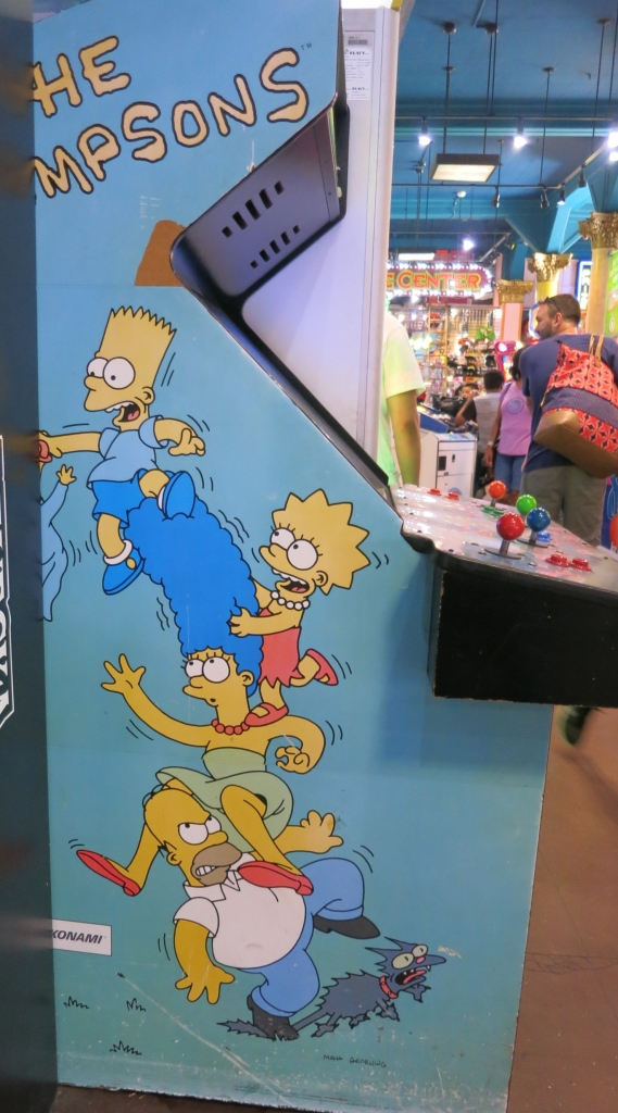 The Simpsons Arcade Cabinet Art