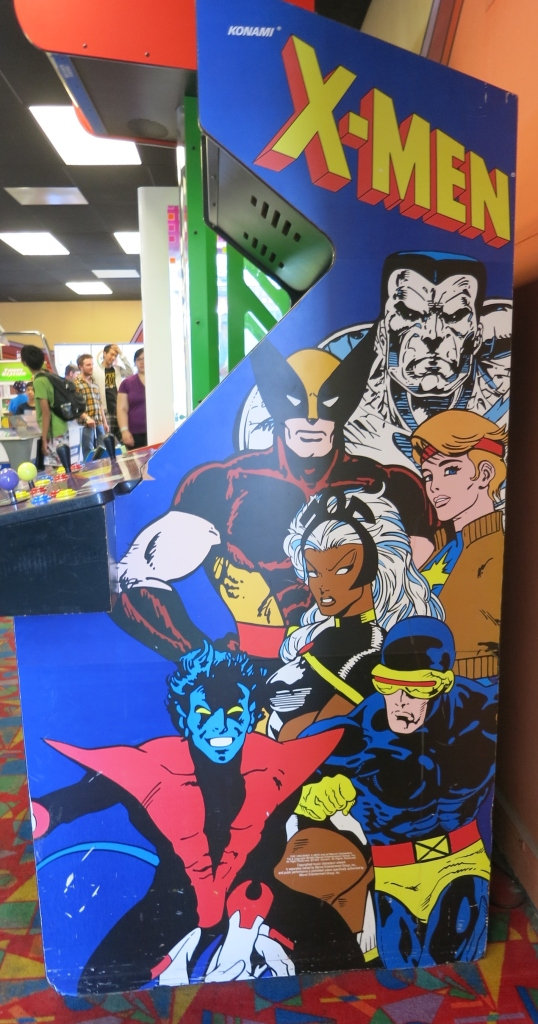 X-Men Arcade Cabinet Art