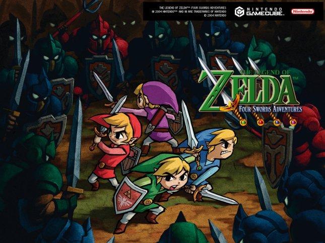 Legend of Zelda Four Swords Adventures Art