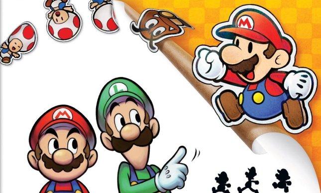 Mario and Luigi Paper Jam Art