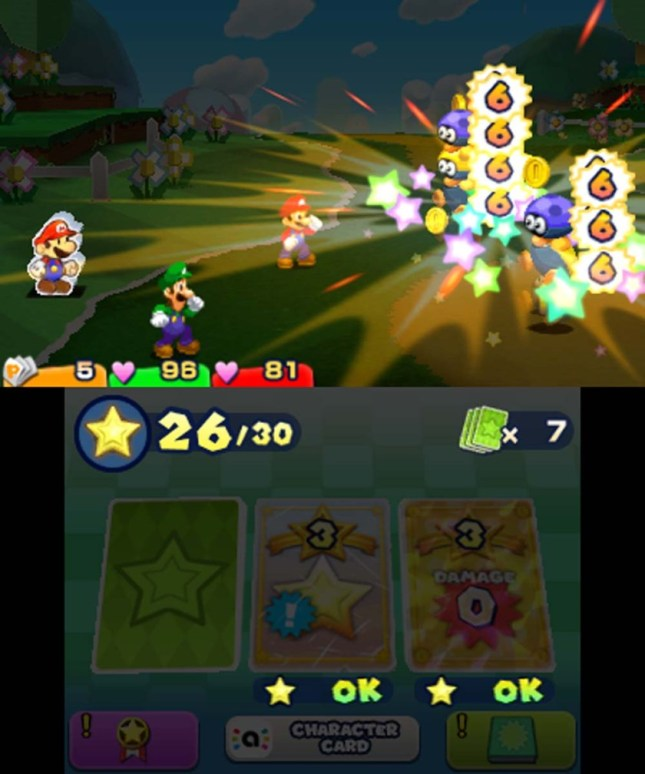 Mario and Luigi Paper Jam- Battle