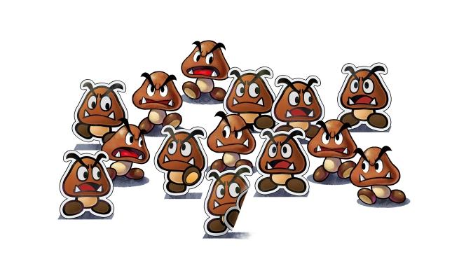 Mario and Luigi Paper Jam - Goombas