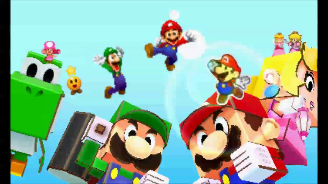 Mario And Luigi Paper Jam Papercrafts Slickgaming