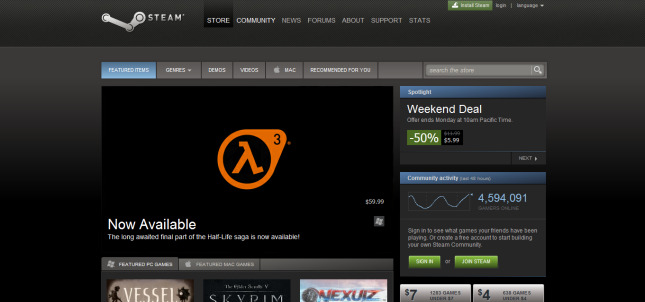 Half Life 3 on Steam