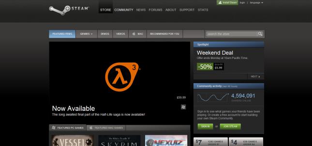 Half Life 3 on Steam