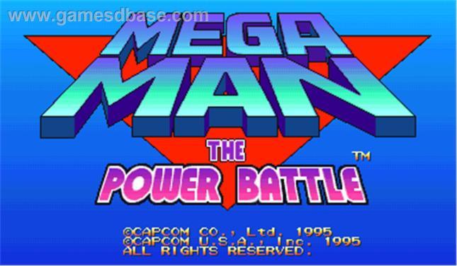 Mega Man the Power Battle Logo