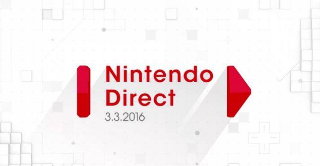 Nintendo Direct 3-3-16
