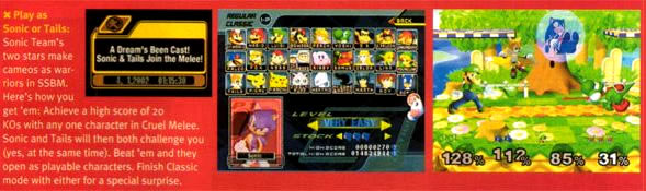 Super Smash Bros Melle Sonic and Tails EGM